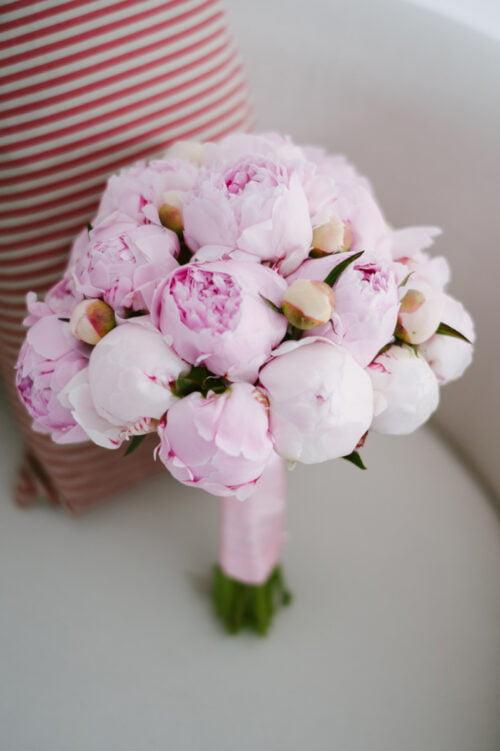 Buchet Mireasa Din Bujori Roz