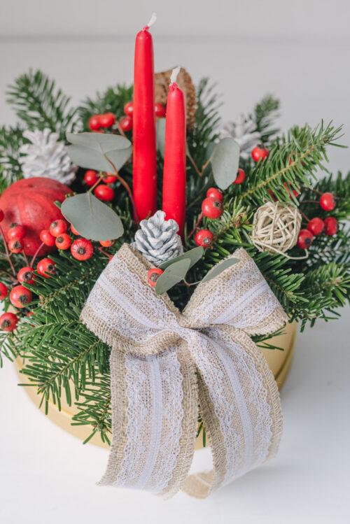 Aranjament Din Brad De Crăciun În Cutie