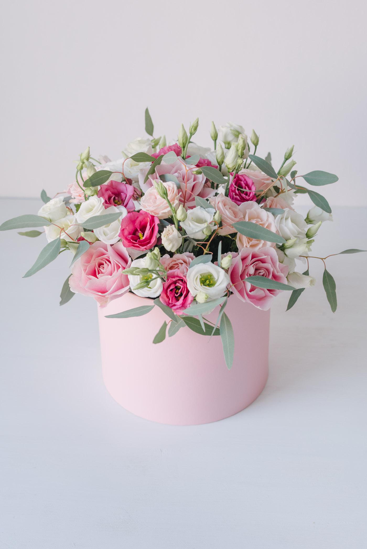 Cutie Rotunda Mare Cu Flori