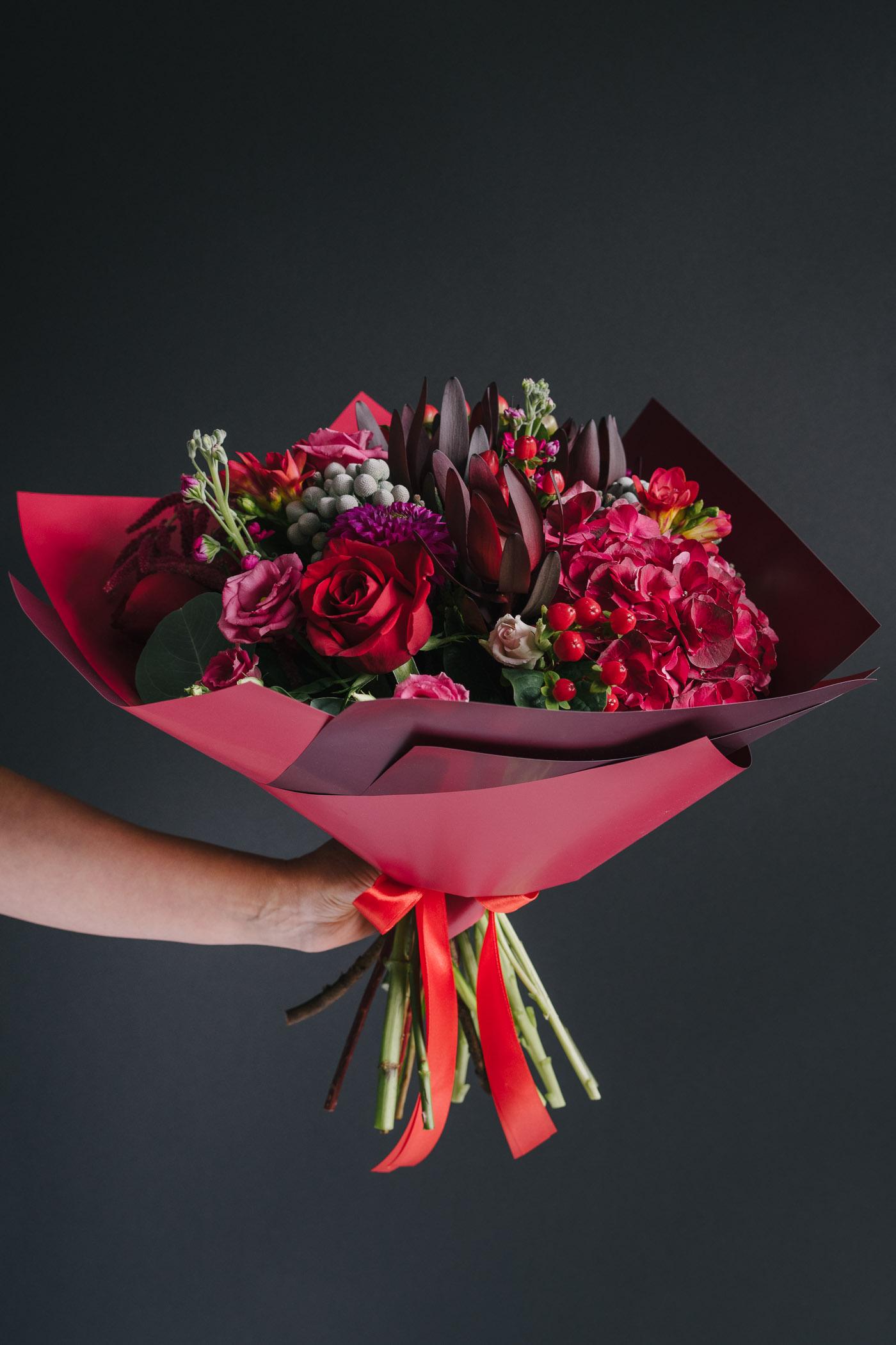 Buchet de flori in culori de toamna