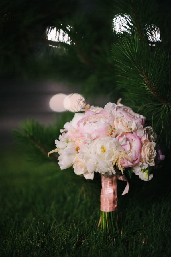 Buchet Mireasa Bujori Trandafiri