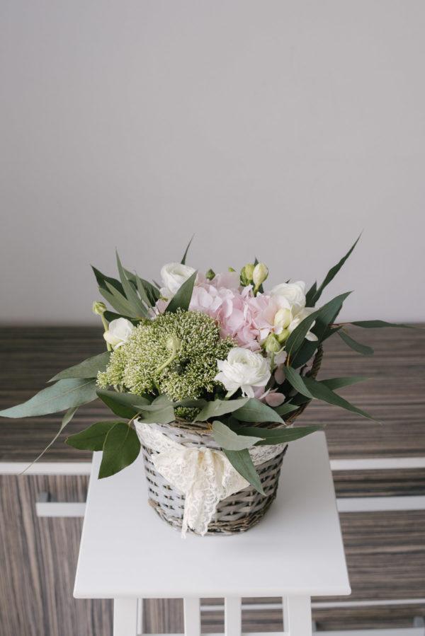 Cos Cu Flori Mixte De Primavara